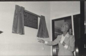 Unveiling plaque